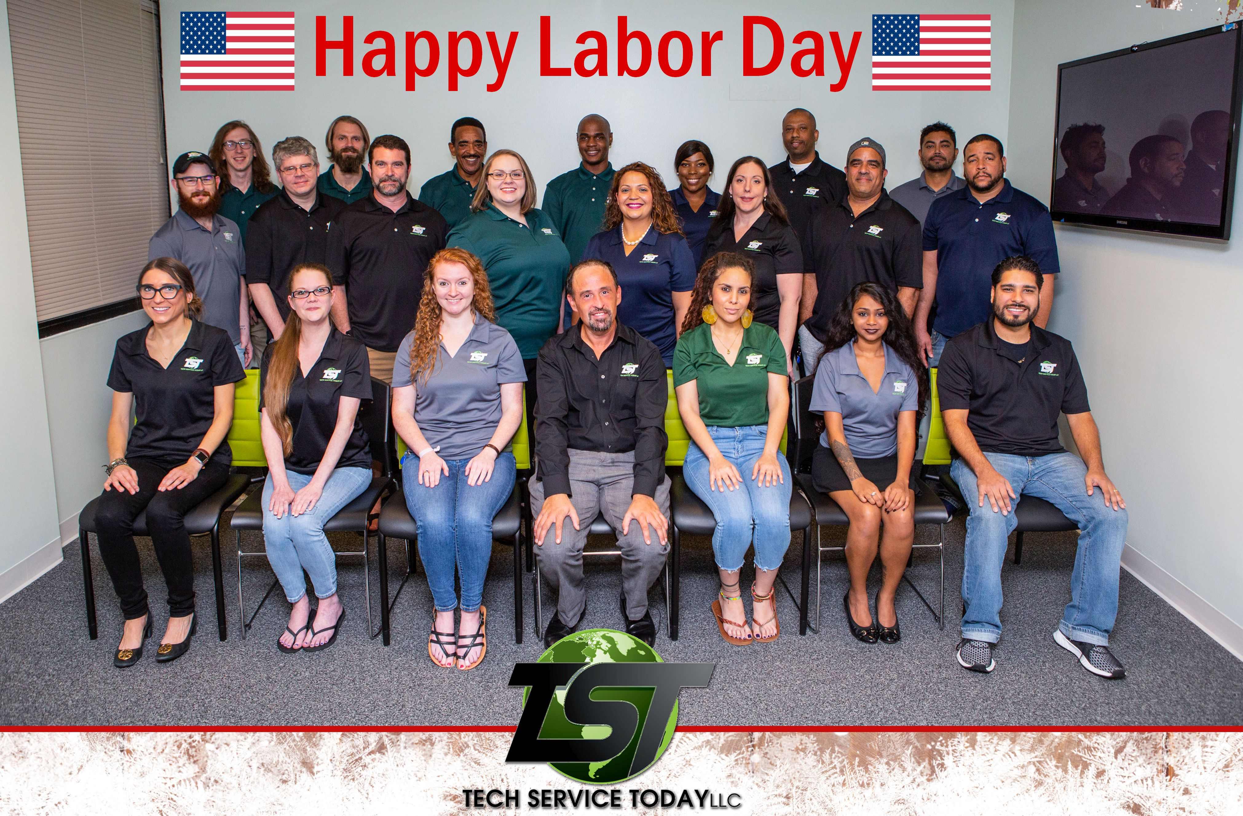 Happy Labor Day To Our Incredible Tech Service Today Team - By Consistently Providing Superior Customer Service In The Delivery Of On-Site IT & Telecom Services Nationwide